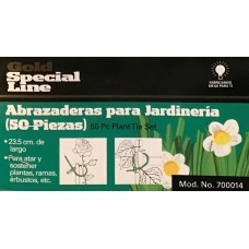 ABRAZADERAS PARA JARDINERÍA CON 50 PIEZAS 23.5 CM DE LARGO PARA SOSTENER PLANTAS, RAMAS, ARBUSTOS ETC--------Mod. 700014