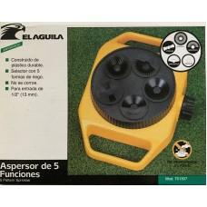 ASPERSOR DE 5 FUNCIONES DE PLASTICO PARA ENTRADA DE 1/2