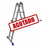 ESCALERA MULTIPOSICIONES ACERO 3E S/ CHAROLA GRIS--------Mod. 333612