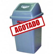 BOTE CUADRADO CON COMPUERTA 25 LITROS----Mod. 703316