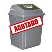 BOTE CUADRADO CON COMPUERTA 40 LITROS