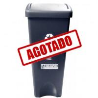 BOTE DE BASURA RECTANGULAR TAPA COLUMPIO 53 LITROS