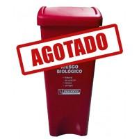 BOTE DE BASURA RECTANGULAR TAPA COLUMPIO 53 LITROS--------Mod. 703353