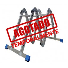 ESCALERA MULTIPOSICIONES ACERO 3E C/ CHAROLAS GRIS--------Mod. 706633