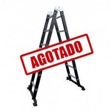 ESCALERA MULTIPOSICIONES ACERO 3E S/ CHAROLAS NEGRA-------Mod. 706634