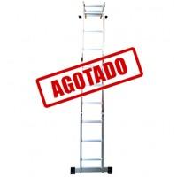 ESCALERA MULTIPOSICIONES ALUMINIO 3E S/CHAROLA----------Mod. 706756E